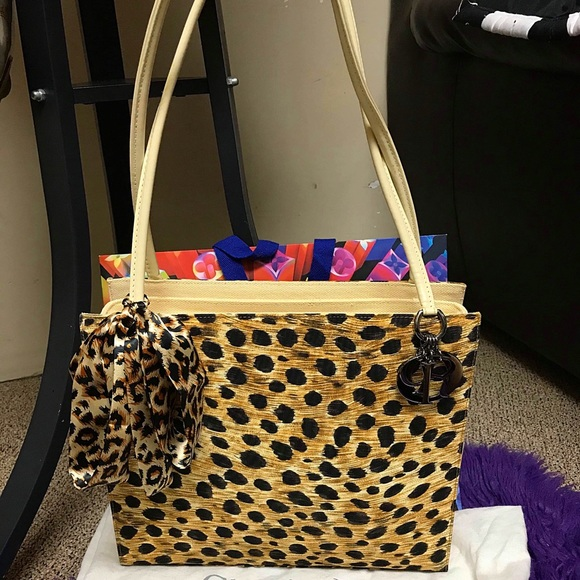 Christian Dior Lady Dior Leopard Shoulder Bag